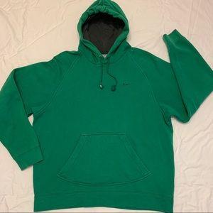 Vtg Nike Green Sweatshirt Hoodie Sz M Small Swoosh